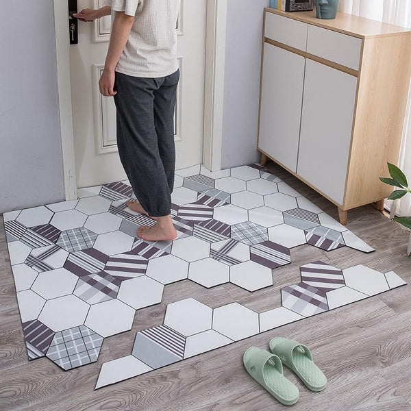 Tapis De Bain Carreaux De Ciment