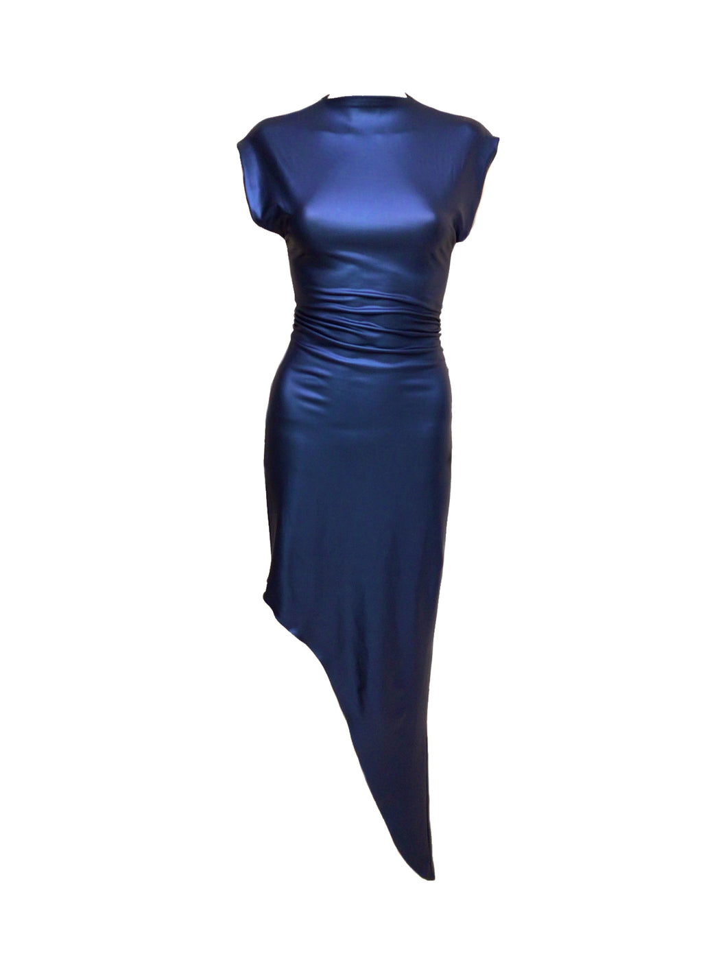 Electric Blue Pleather Dress