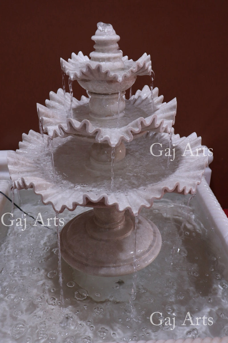 Marble Water Fountain 30""
