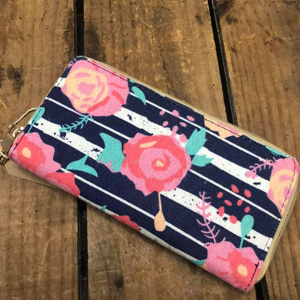 Fabric Purse with Floral Print