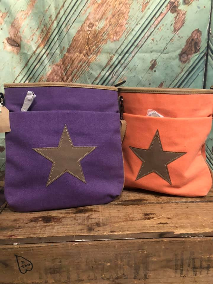 Canvas Crossbody Bag With Star