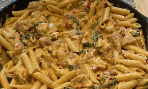 Creamy Tuscan Chicken with Pasta