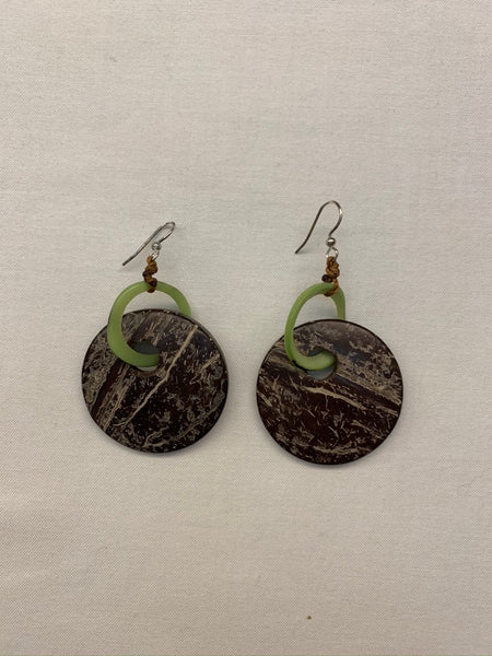 Hand Made Fair Trade Ultra Light Tagua Nut Earring