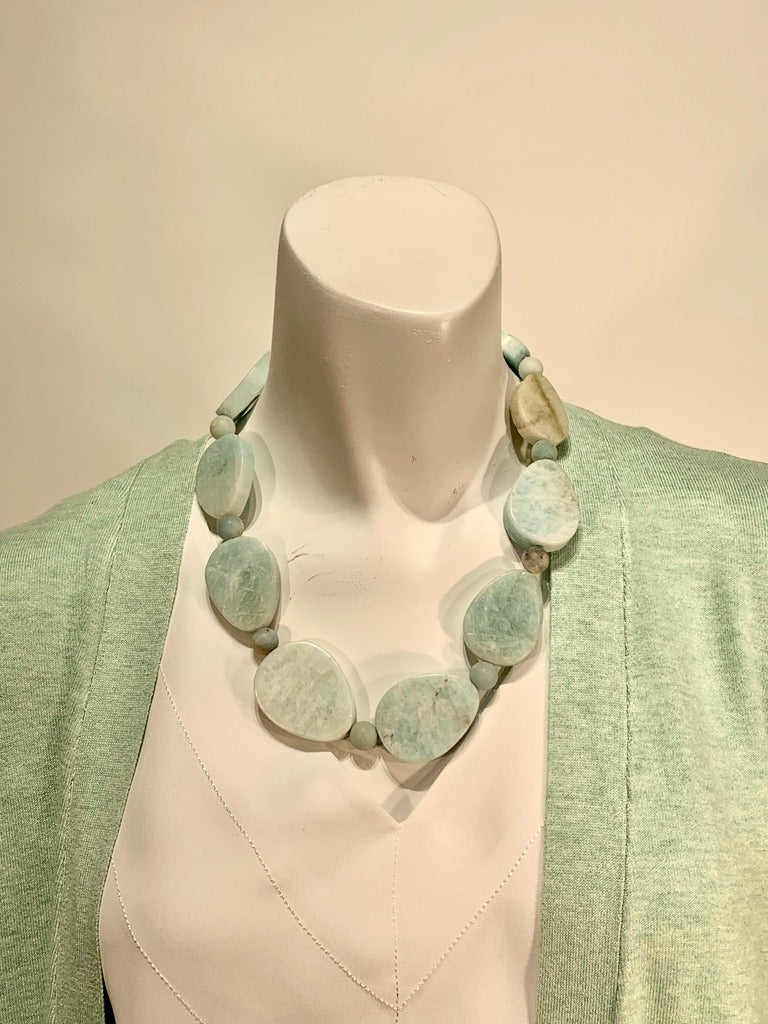 Semi Precious Amazonite One of a Kind Necklace Made in California
