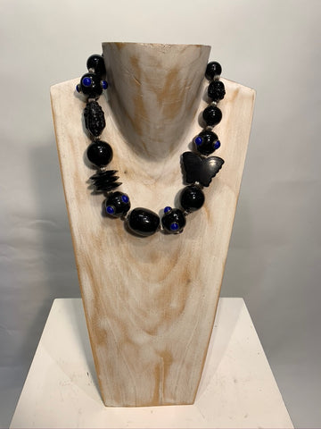 Semi Precious One of a Kind Necklace Made in California.
