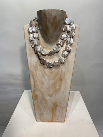 Semi Precious Freshwater Pearl One of a Kind Necklace made in California