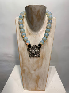 Semi Precious Opalite One of a Kind Necklace made in California