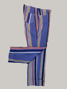 Insight Pull On Easy Fit Stripe Crop Cuff Pants- 004524
