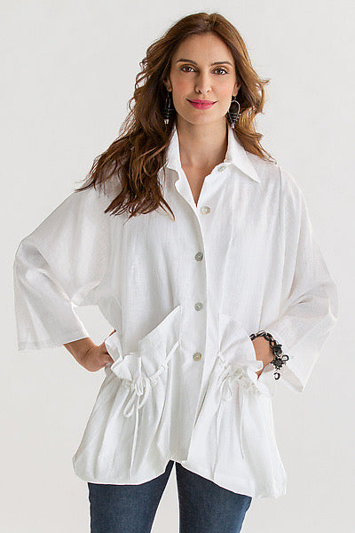 Beautiful Linen Jacket with tie pockets