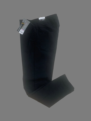 Slim Station Black Stretchy Pants- 003549