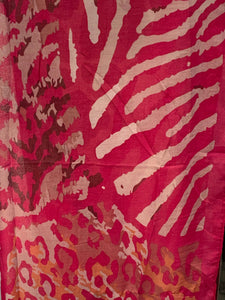 Beautiful Fuchsia, Coral and Lavender Animal Print Scarf In Many Colors