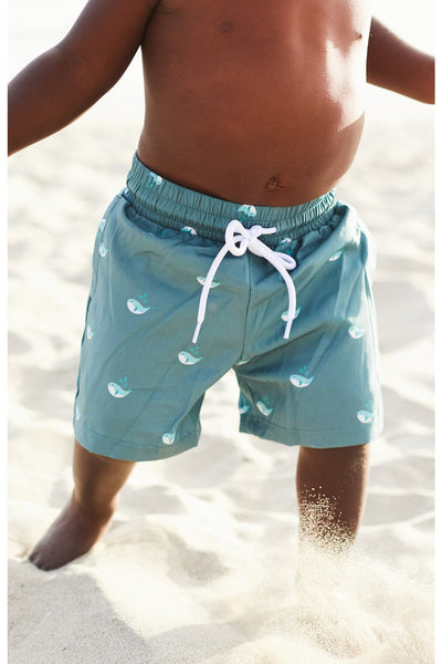 Hail the Whale Swim Trunks