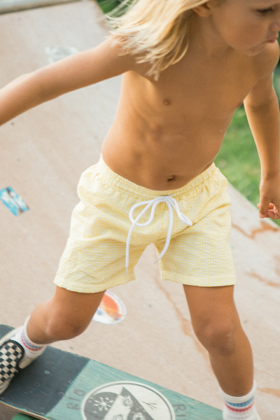 Hampton Yellow Swim Trunks