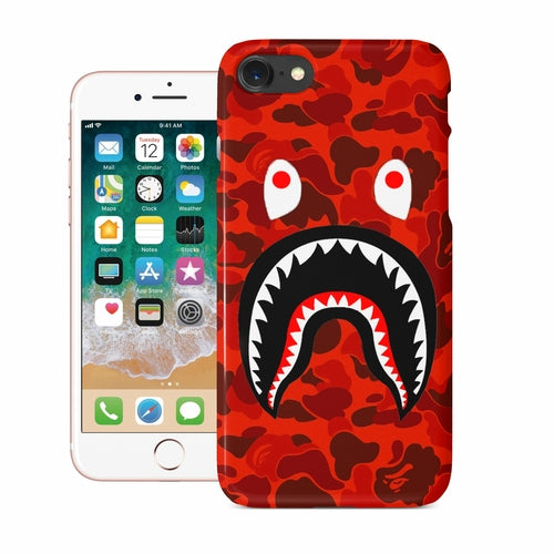 Red Camo Shark Mouth iPhone Case