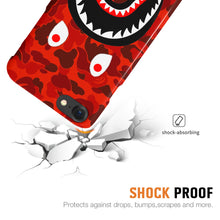 Load image into Gallery viewer, Red Camo Shark Mouth iPhone Case