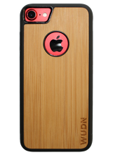 Load image into Gallery viewer, Slim Wooden Apple Logo Cut-out Case for iPhone
