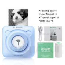 Load image into Gallery viewer, PeriPage Mini Portable Thermal Printer Paper Photo Pocket Thermal Printer 58 mm Printing Wireless Bluetooth Android IOS Printers
