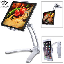 Load image into Gallery viewer, XMXCZKJ Kitchen Tablet Stand Wall Desk Tablet Mount Stand Fit For 5-10.5 inch Width Tablet  Metal Bracket Smartphones Holders