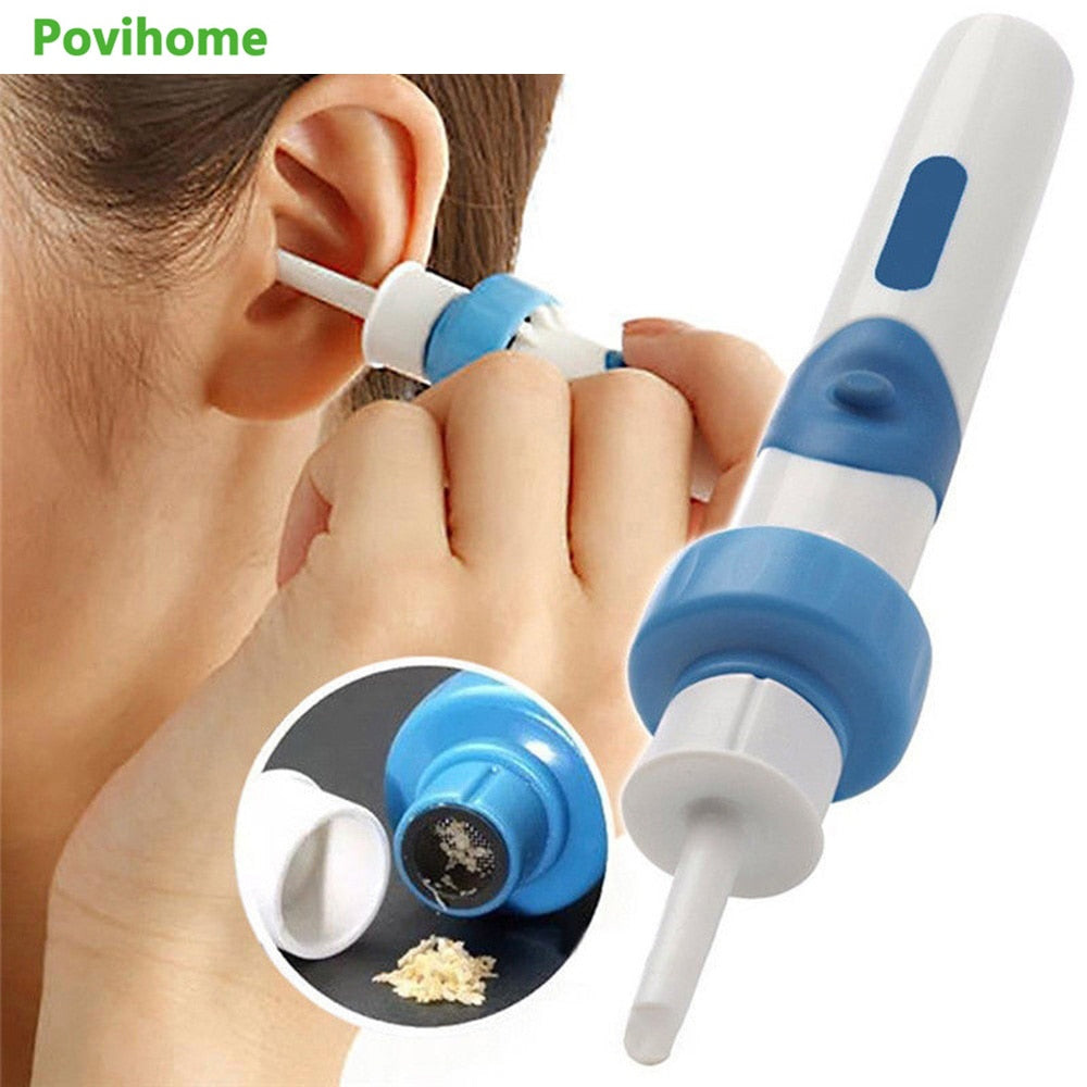 1/2/3/5 Sets Electric Ear Cleaner Safety Electric Vacuum Earwax Cleaner Wax Remover Painless Cleaning Tool