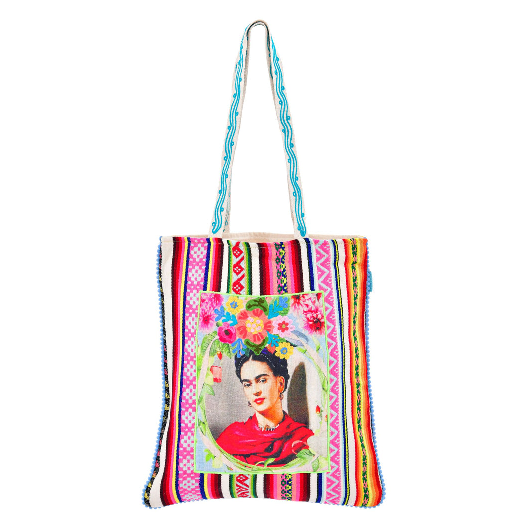 Patched Rose Frida Tote Bag 14