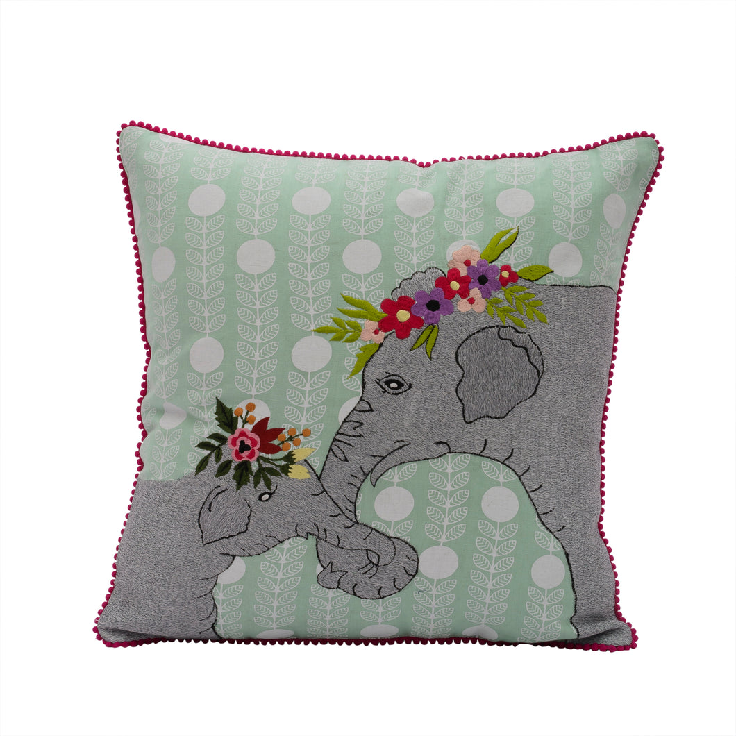 Elephant and Baby Pillow 18
