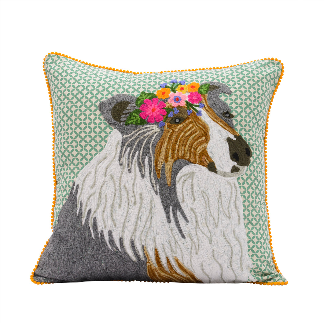 Collie sheep dog pillow 18