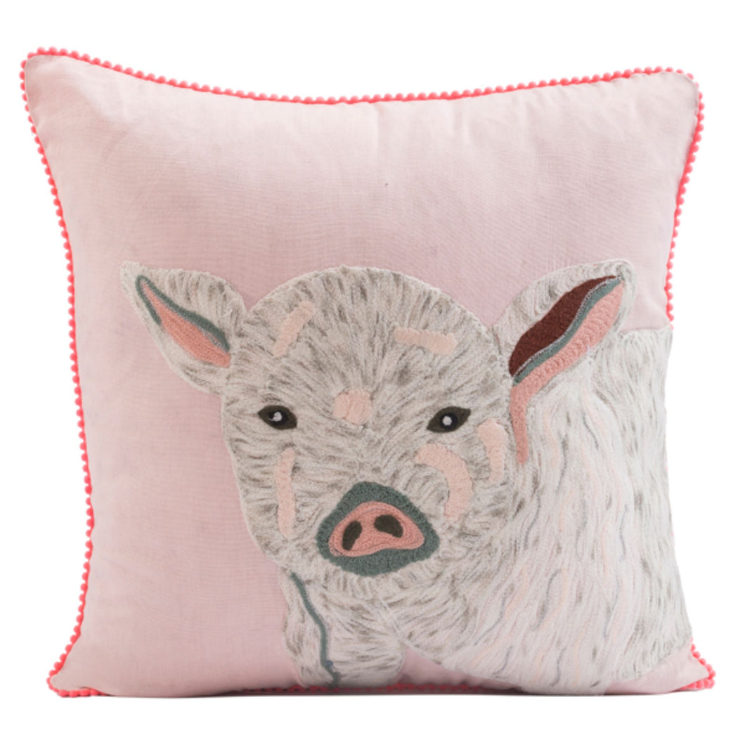 Mary Gregory Pig Pillow