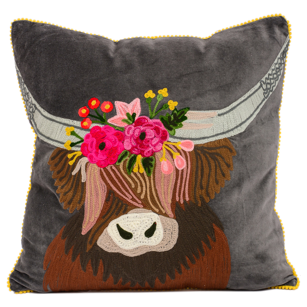 Highland Cow Pillow 18