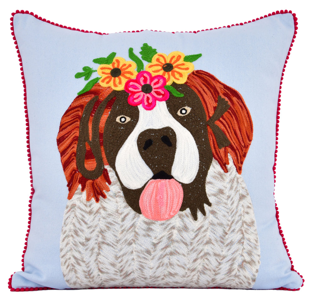 Playful St Bernard Pillow 18