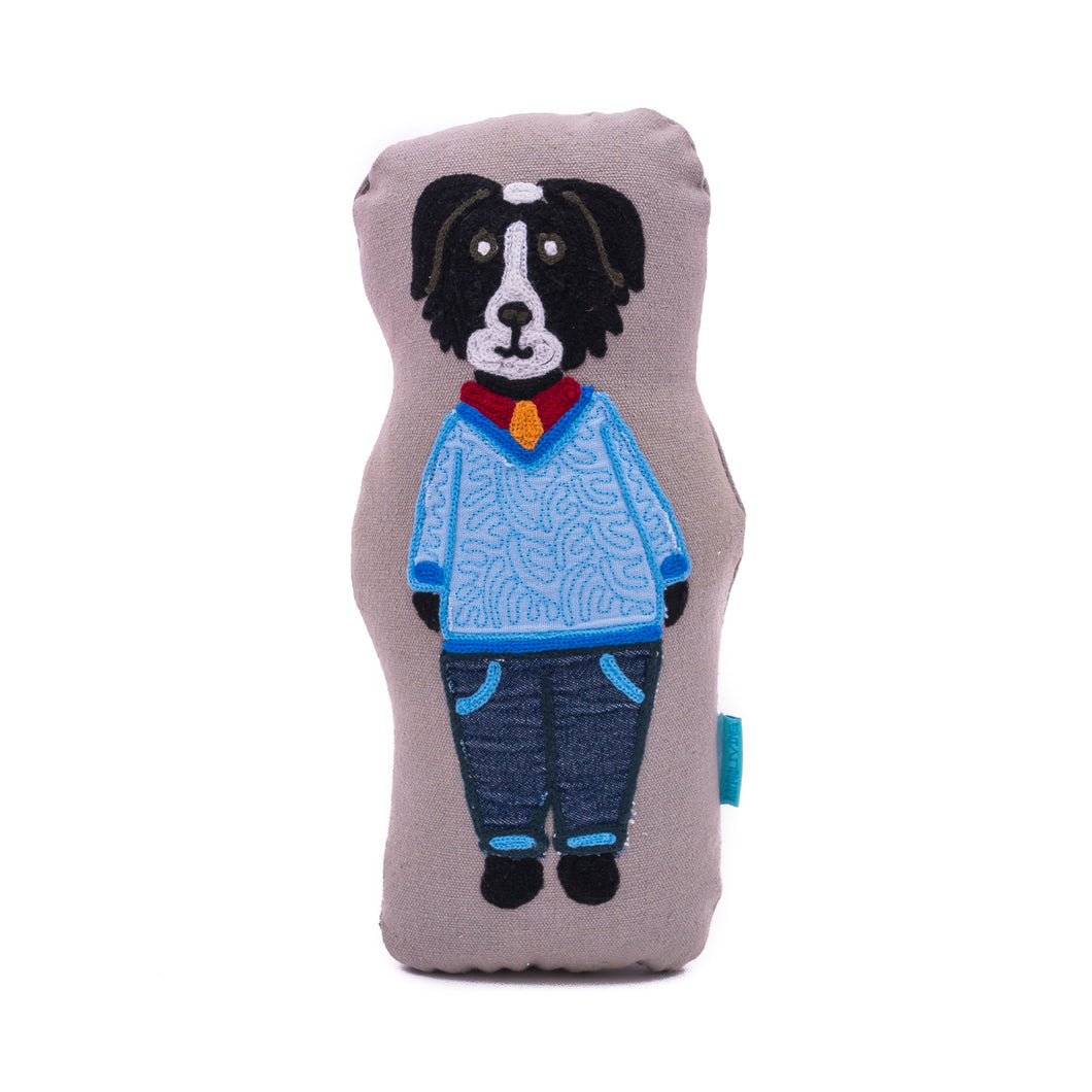 Handsome Dog Doll Pillow
