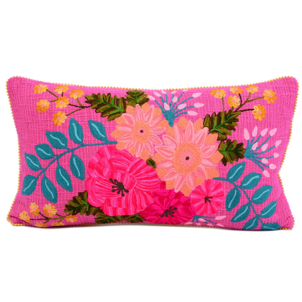 Flower Power Fuchsia Pillow 14