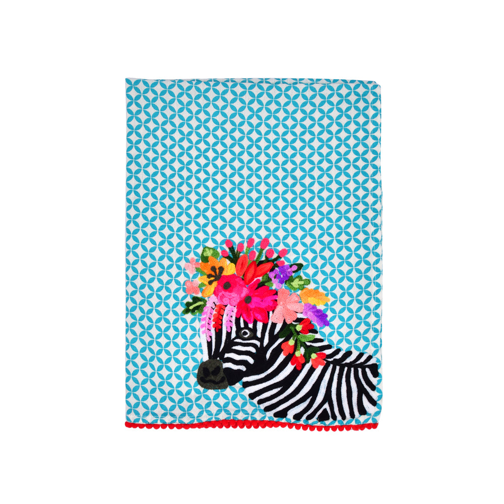 Colorful Zebra Tea Towel 19