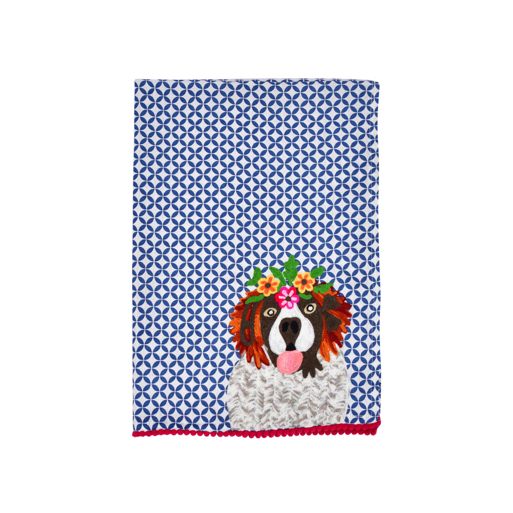Playful St Bernard Tea Towel 19