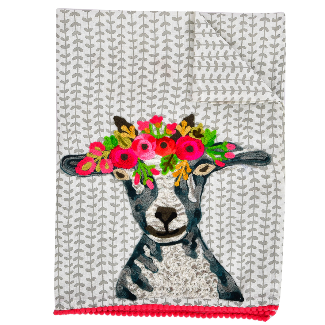 Simplicity Goat Tea Towel 19