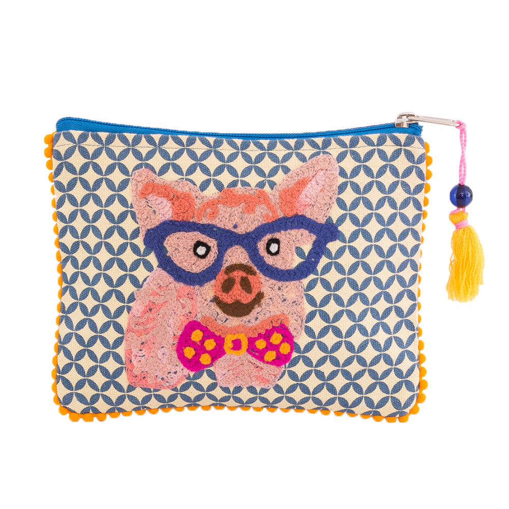 Pig Pouch Small with Tassel 6