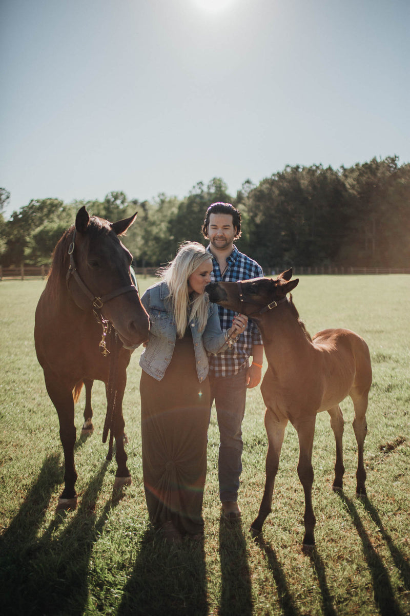 "Kelley Mundrick & Kyle Martin with Good Time Blazer and 2020 foal, ""Makin Stellar Times"""