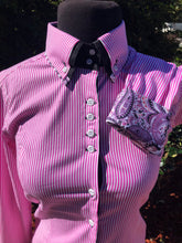 Load image into Gallery viewer, Pink Stripe Button Up