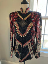 Load image into Gallery viewer, Unbridled Couture Red & Gold Jacket