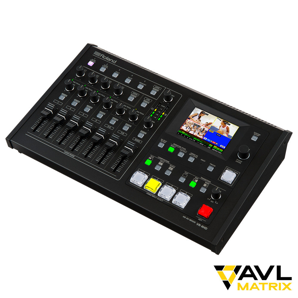 Roland VR-4HD 6 All-In One Production Mixer with USB 3.0 Streaming Out