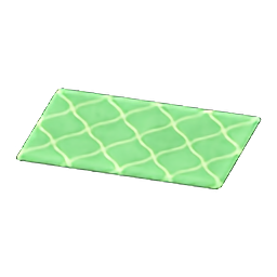 Green Kitchen Mat