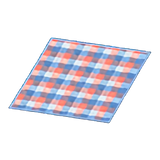Red-And-Blue Checked Rug