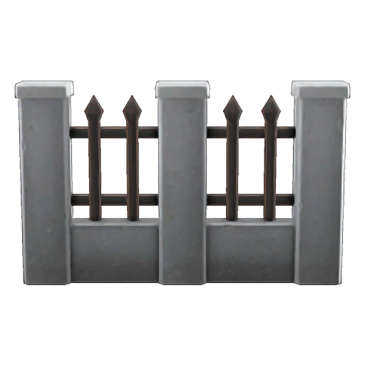 Iron-And-Stone Fence (50)