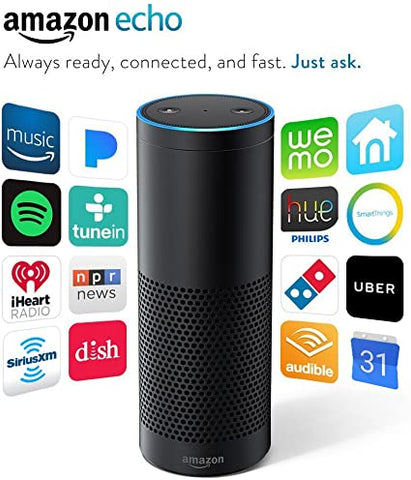 Amazon Echo 1st Generation Smart Assistant Home Music Speaker