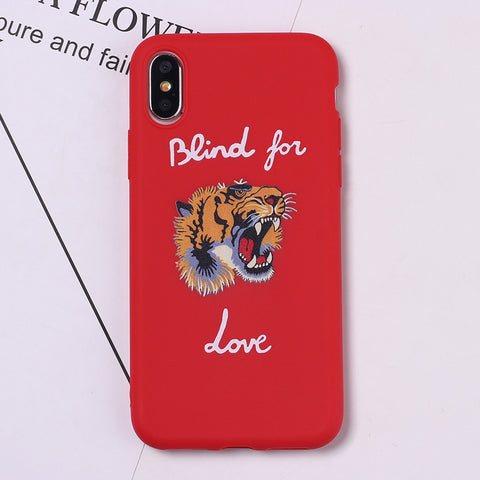 "iPhone Luxury case ""Blind For Love"" Tiger Gucci* - Red"
