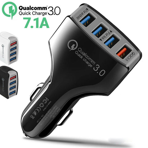 4 USB Car Charger - Qualcomm Quick Charge v3.0