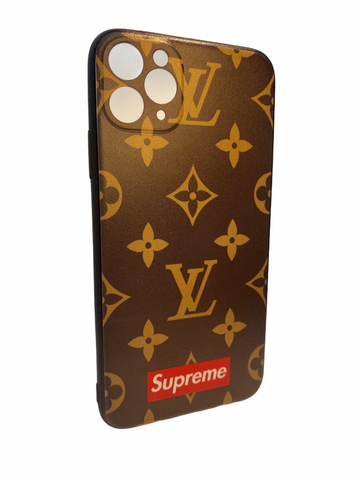iPhone 11 luxury case LV style brown