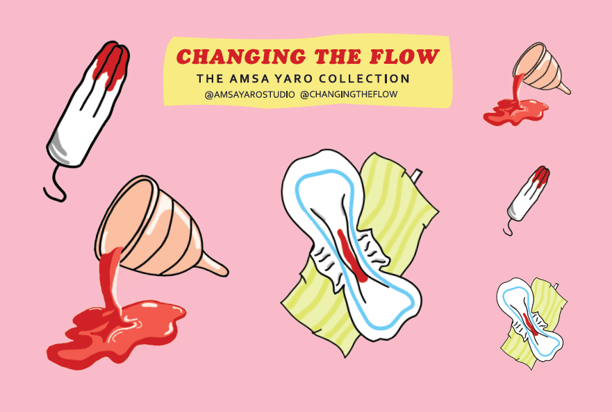 Period Product Sticker Sheet: The Amsa Yaro Collection