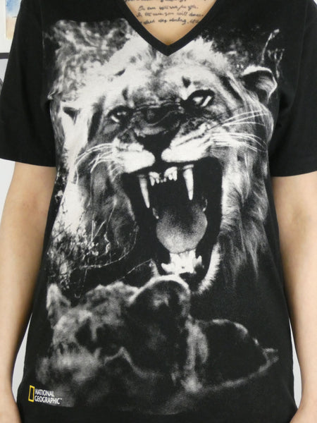 National Geographic Roaring Lion T-Shirt