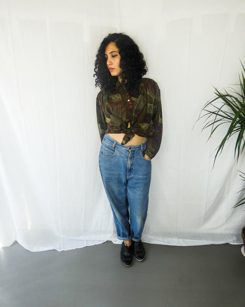 Vintage Earthy Printed Shirt | 70s style