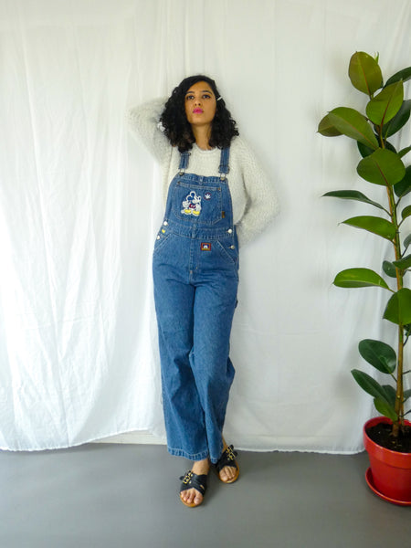 Vintage Disney Nostalgia Full Length Mickey Long Dungaree